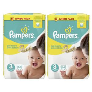 COUCHE Pampers Premium Protection Taille 3 Midi 5-9kg Jum