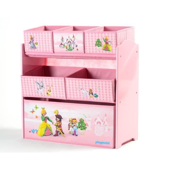 Etagère Playmobil, sur le thème des princesses - Fille - A partir de 3 ans - Livré à l'unitéPETIT MEUBLE DE RANGEMENT - CASIER - PANIER