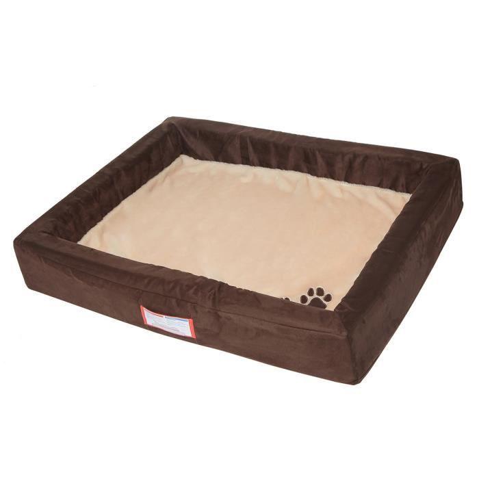 TRIXIE Vital Lit Memory - 85 × 68 cm - Brun et beige - Pour chien