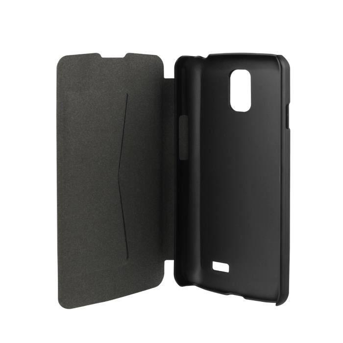 XQISIT Etui Folio Rana pour LG F70 - Noir