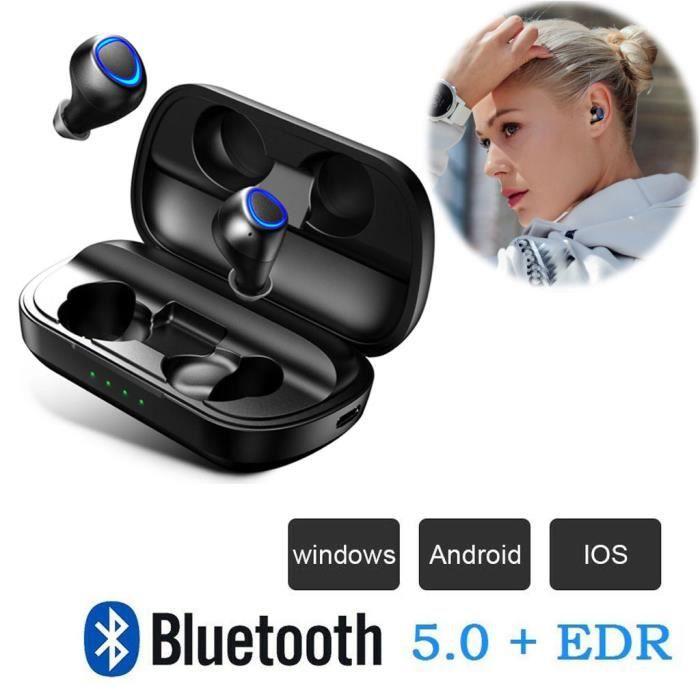 Vrai Sans Fil Earbudsbluetooth 5,0 Mini Écouteurs Intra-auriculaires Sweatproof Sport @hot5059