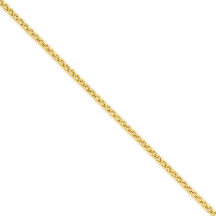 2,8 mm 14 carats Spiga chaîne collier - 30 cm-pince de homard