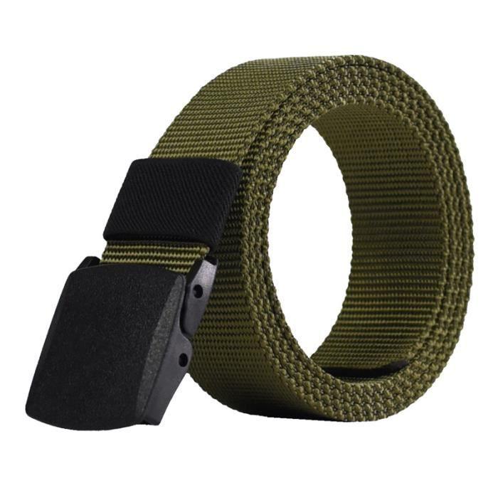 49c2d2811ffb Ceinture militaire ceinture de toile de loisirs de plein air hommes boucle  sans métal ceinture en plastique hypoallergénique