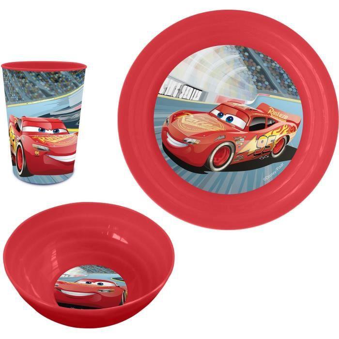 CARS Set Déjeuner Plastique 3 Pièces