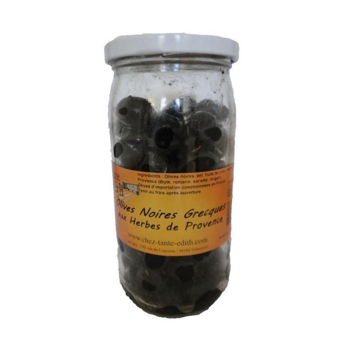 OLIVE Olives Noires Grecques aux Herbes de Provence