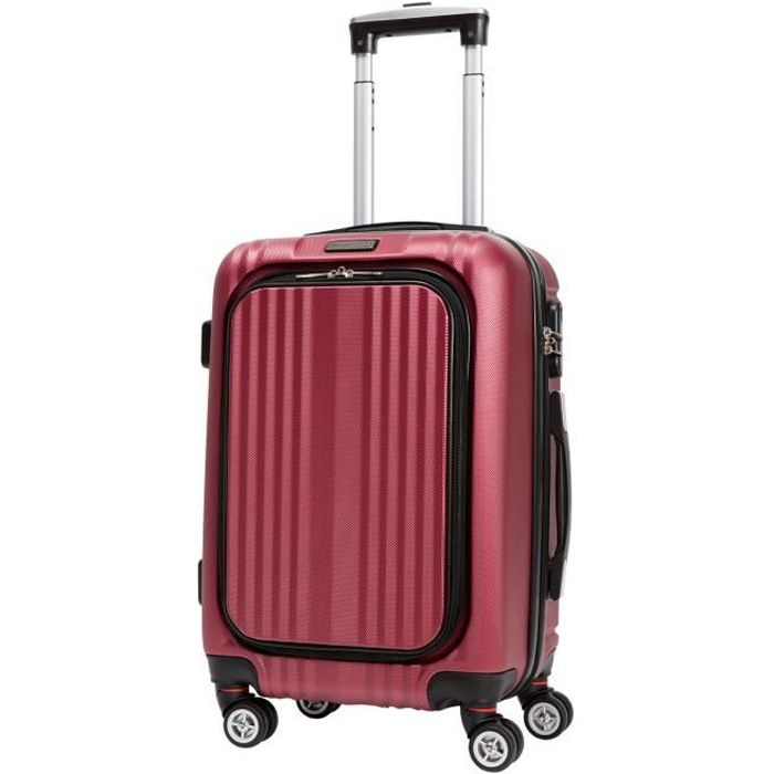 cdb valise cabine low cost rigide abs 8 roues 48 cm bordeaux bordeaux achat vente valise. Black Bedroom Furniture Sets. Home Design Ideas
