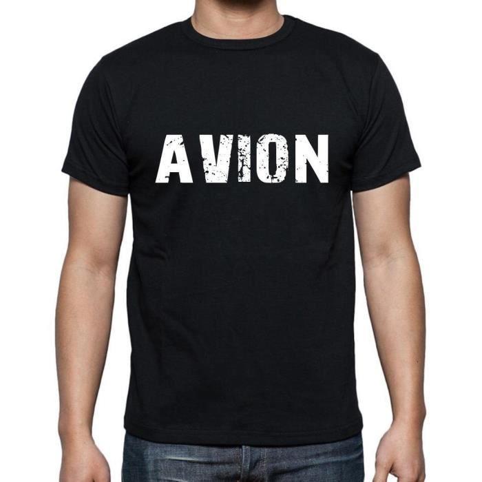 Avec Achat Noir Motif TshirtHomme Avion Vente T Tshirt O08nPkw