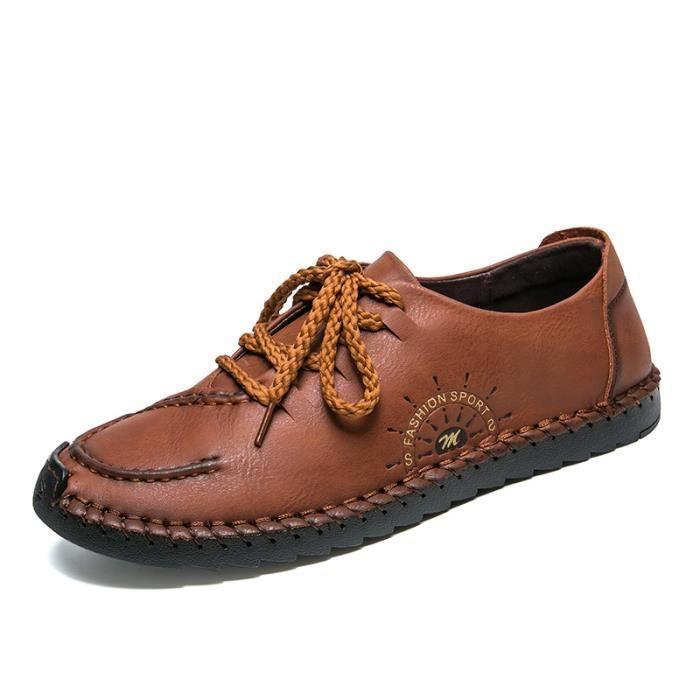 Et Chaussures Automne Brun Plates Légères Homme Bateau Confortables En Daim wrw0agq6