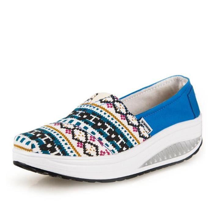 Chaussures Femmes Mode Detente Durable fond épais Chaussure YLG-XZ087Vert40 V6kyMQ2A