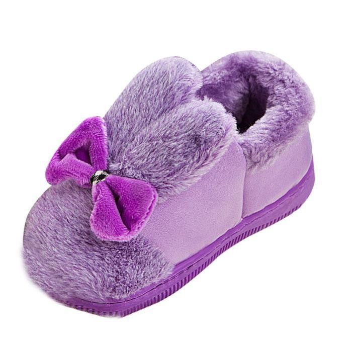 Chaussures Semelle Doux Souple Caoutchouc Neige petits Botte Laine Bowknot Bottes Bébé Tout Berceau violethm De g1qPnIS