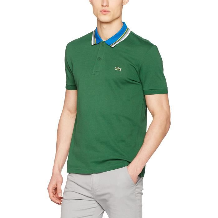 b50cb79b8b Lacoste Chemise polo 1P1SYW Taille-M Vert Vert - Achat / Vente polo ...