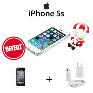 SMARTPHONE Apple iPhone 5S 16Go Blanc Pack Protection