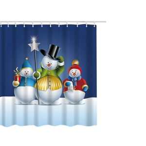RIDEAU DE DOUCHE Imperméable Pol    ster Salle de bains de Noël rid