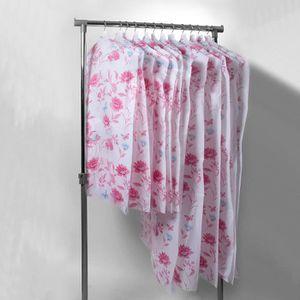 HOUSSE VÊTEMENTS Lot de 12 housses de vêtements motifs fleurs de la