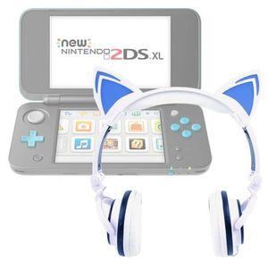CASQUE - ÉCOUTEURS Casque audio blanc lumineux pour console de jeux N
