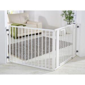 kit barriere de protection b b set 1 blanc laq blanc achat vente barri re de s curit. Black Bedroom Furniture Sets. Home Design Ideas