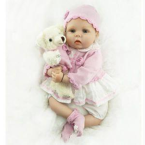 37240e4681f03 22 polegada 55 cm silicone reborn bébé poupées vie comme reborn poupées