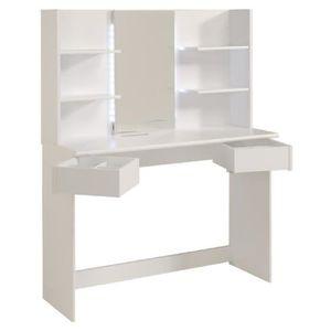 COIFFEUSE GLOSS Coiffeuse contemporain blanc - L 108 cm