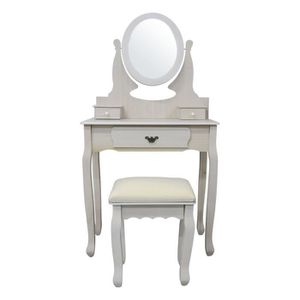 Table coiffeuse vintage achat vente table coiffeuse vintage pas cher cdiscount - Coiffeuse table de maquillage ...