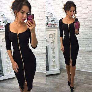 nouvelle arrivee 27f56 b2edd Vêtement Femme- Robe - moulant ouverture Noir Noir - Achat ...