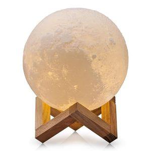 LAMPE A POSER 3D Lune Lampe, Rechargeable Interrupteur Tactile L
