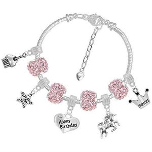BRACELET - GOURMETTE Bracelet Enfant Style Pandora Charm Swarovski Elem