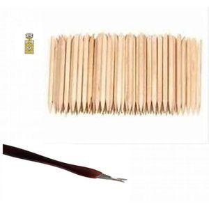 REPOUSSE CUTICULES 100 Repousses cuticules en bois + 1 petit coupe cu