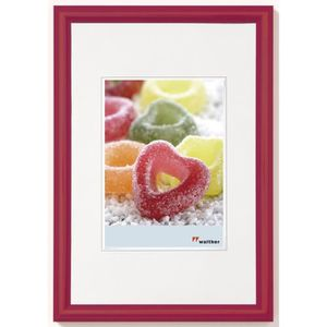CADRE PHOTO WALTHER TRENDSTYLE ROUGE 40X50 PLASTIQUE KP050R