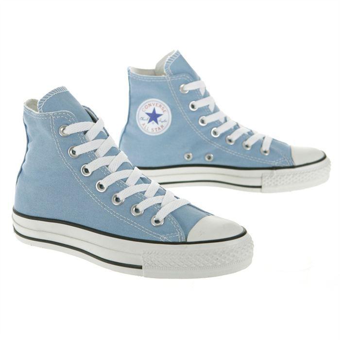 converse haute bleu pale