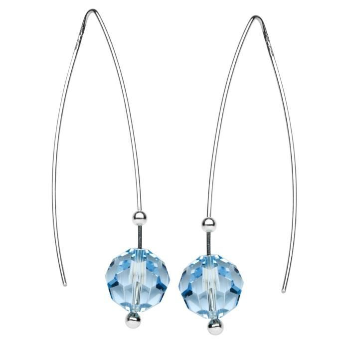 In Collections - 202v268160340 - Boucles Doreilles Pendantes Femme - Argent Fin 925-1000 - Swarovski-crystal AJCHO