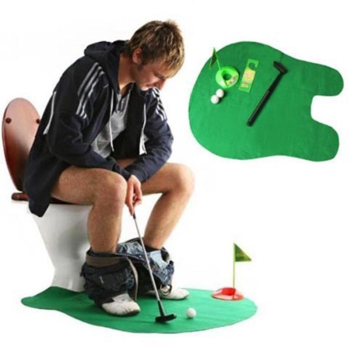 2016 Nouvelle Collection Fun Salle de bain Mini Mat Golf Set Potty ...