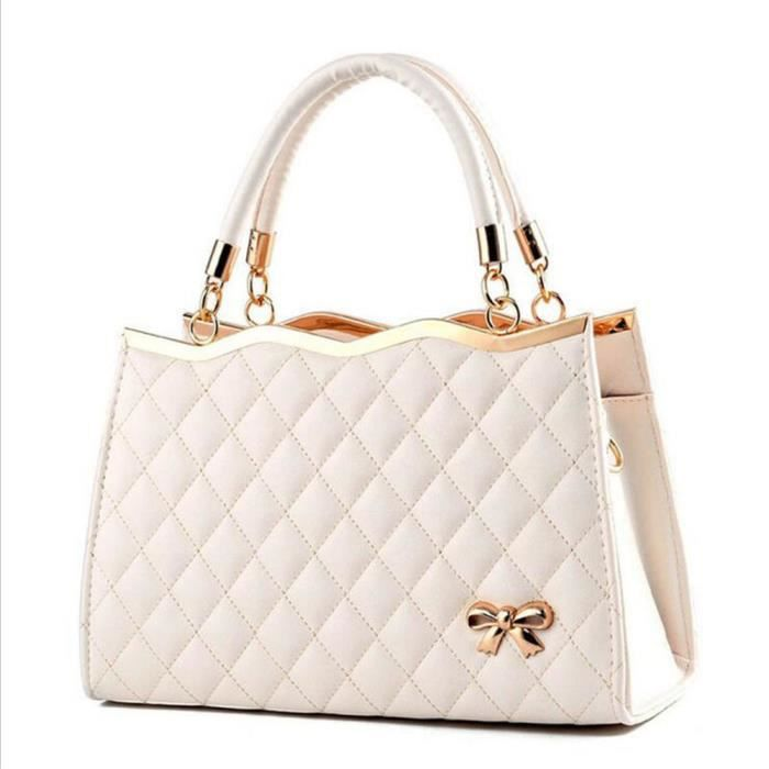 e7d457eaee sac de luxe sac à main femme marque de luxe Sac Femme De Marque De Luxe En  Cuir sac bandouliere blanc