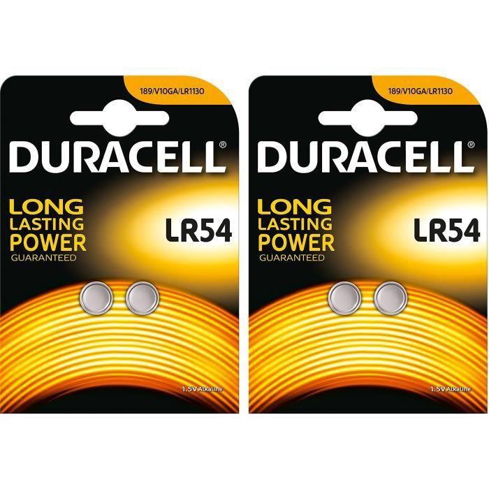 DURACELL Blister de 4 Piles bouton alcaline Electronics LR54, LR1130, AG10  1,5 Volt e6949e620fb6