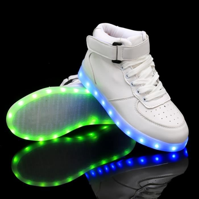 chaussures 42 sport Saskets Lumière chaussures LED LED BxqY7rBH