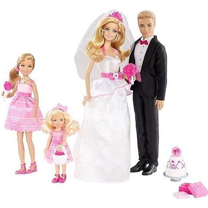 Barbie coffret mariage achat vente poup e cdiscount - Image barbie et ken ...