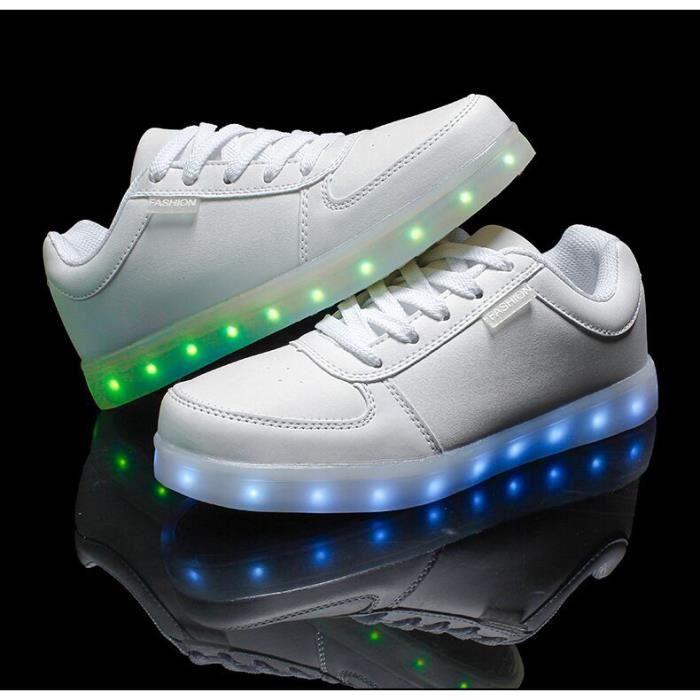 BASKET Unisex Homme Femme Chaussure LED light Lumire U...