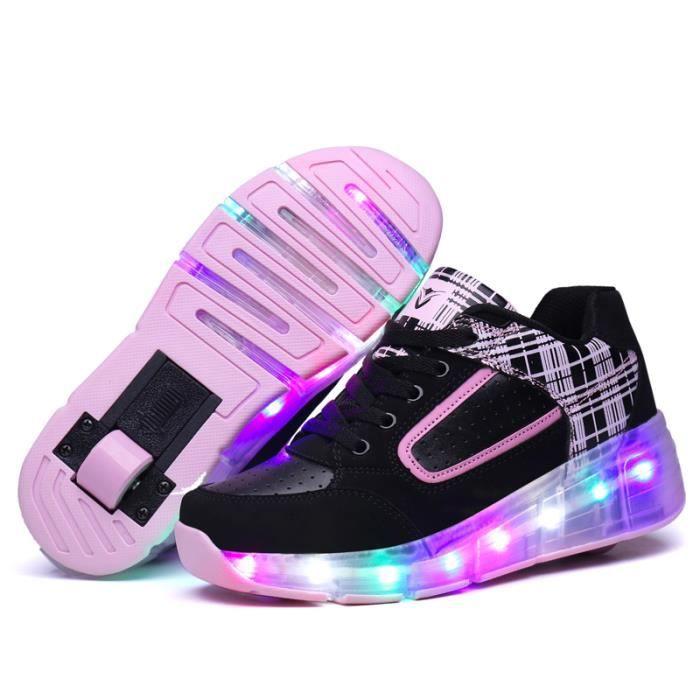 Enfants Chaussures Heelys LED lumiere Roulettes Garçons Filles ®KIANII