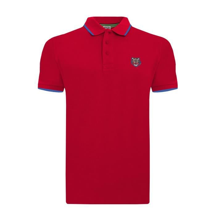 5453961290be Kenzo Homme Polo Manches Courtes Rouge Rouge - Achat   Vente polo ...
