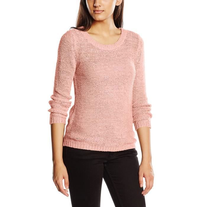53c2a3a8f1ae Only Onlgeena Xo L-s Pullover Knt Noos, Pull Femme H7WCU Rose Rose ...