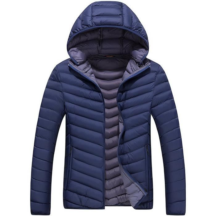À Manche Outdoor Veste Blouson Détachable Cotton En Capuchon Jacket Matelassée D'hiver Mens Homme Long Chaude Parka vqSSY