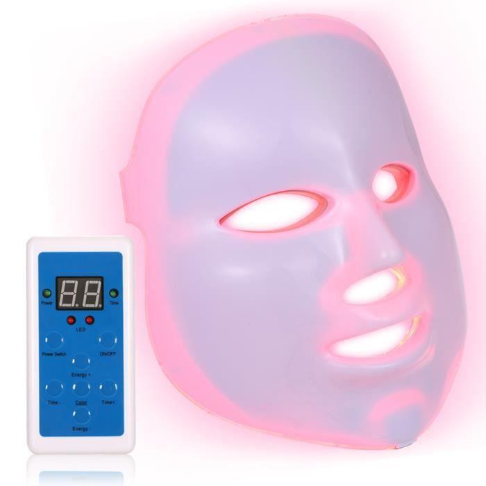 Âge Led Contrôleur Masque Anti Beauté Thérapie Soin Visage 7 Rides Timing Couleurs Photon Lampe Du Acné De Pdt troshCxBQd