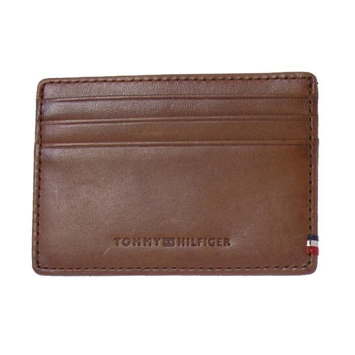 Tommy Hilfiger Porte-cartes en cuir avec compartiment pour la monnaie MvO92e