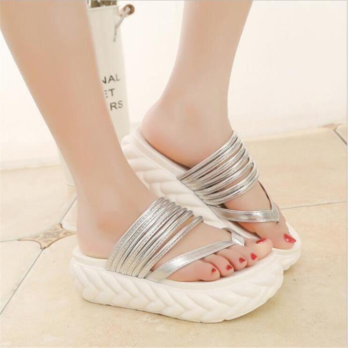 chaussures femme étéhigh heel slippers Meilleure Qualité platform sandals Respirant Classique Pantoufles sexy sandale z60PbKuFhN