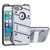HOUSSE - ÉTUI IPhone 7 Plus Coque de protection avec Holder (Sil
