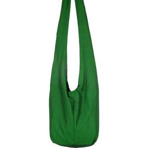 14f2564e00 Sac Bandoulière Ethnique Sac à main Coton Besace bohème Boho Vert homme  femme fourre tout shoulder bag green uni Coton