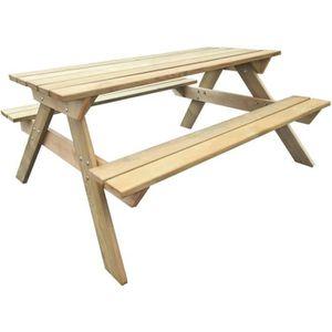 TABLE DE JARDIN  Table pour pique-nique en bois de pin