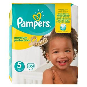 COUCHE Pampers Couches Premium Taille 5 Géant (9-14Kg) x3