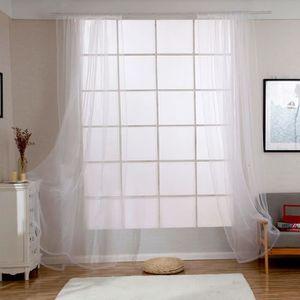 Rideau blanc salon - Achat / Vente pas cher