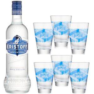 VODKA Eristoff - Vodka - 6 Verres - 37.5% Vol. - 70 cl