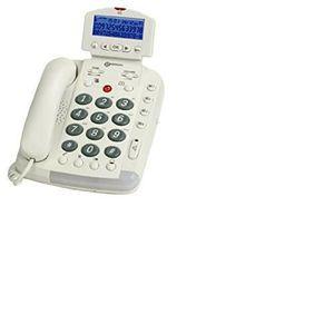 Téléphone fixe geemarc CL330 telephone larges touches blanc